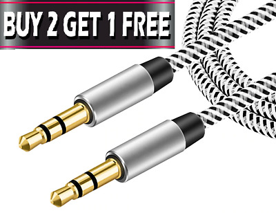 £2.25 • Buy 1M - 3.5mm Jack Plug Aux Cable Audio Lead For To Headphone MP3 IPod PC Car GOLD