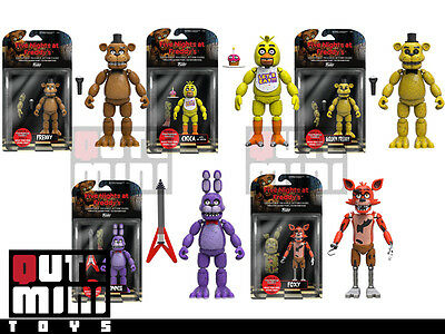 AU416.22 • Buy Funko Five Nights At Freddy's Set Of 5 Golden Chica Bonnie Foxy 5  Figures