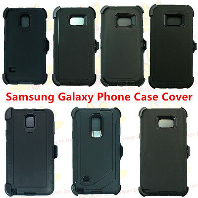 $ CDN12.58 • Buy (Black) For Samsung Galaxy Phone Case Cover W/(Belt Clip Fits Otterbox Defender)