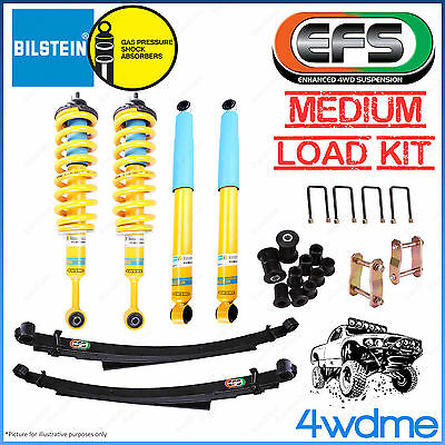 AU1820 • Buy For Toyota Hilux KUN26 4WD Bilstein B6 & EFS Leaf Spring Medium Load 2  Lift Kit