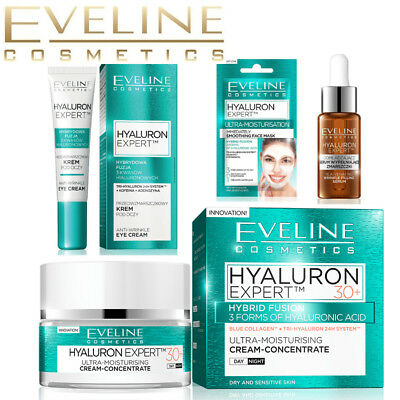 Eveline HYALURON EXPERT Anti Wrinkle Anti Ageing Face Cream 30+ 40+ 50+ • 8.59£
