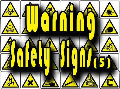 £9.99 • Buy Yellow Warning Safety Signs, Caution, Slip, Trip Etc Vinyl Wall Stickers Signs 5