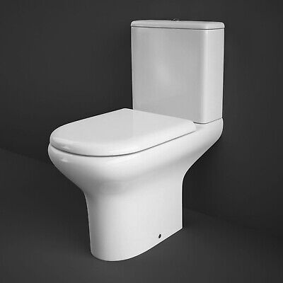 RAK Compact Close Coupled Toilet With Push Button Cistern - Soft Close Seat • 176.95£