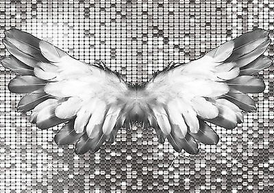 £29.99 • Buy Stunning Angel Wings Canvas 😇 #37 Romantic Wall Art Shabby Chic Canvas Picture
