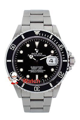 $ CDN10525.01 • Buy Rolex Submariner Date 16610 40mm Black Dial Oyster Perpetual For Men