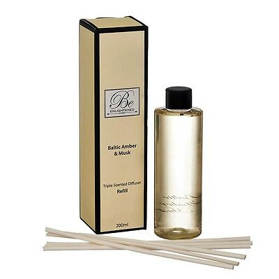 AU25.95 • Buy Be Enlightened~diffuser Refill~triple Scented Baltic Amber & Musk