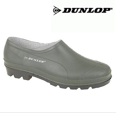 DUNLOP Unisex Slip On Gardening Clogs Green Welly Shoes Size 3 4 5 6 7 8 9 10 11 • 18.95£