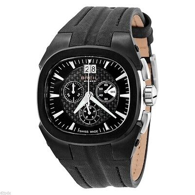 £278.02 • Buy Breil Milano Mens BW0414 Eros Chronograph Black Leather Stainless Steel  Watch