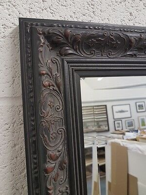 £70 • Buy Handcrafted Mirror Ornate Black Floral Shabby Chic Gothic Many Sizes Solid Wood