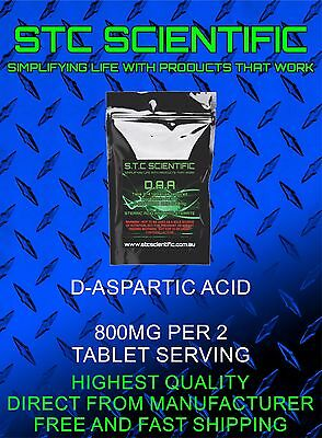 AU15.95 • Buy D ASPARTIC ACID  X 120 1 Pack 120 Total. Colour Of Tablet May Vary.