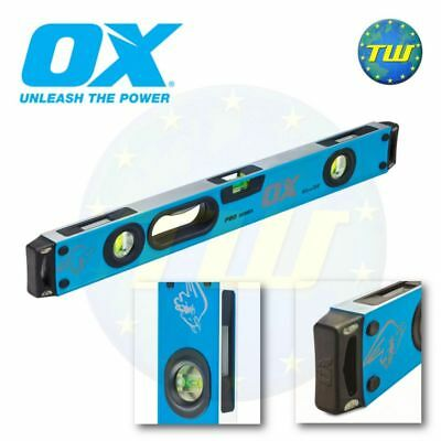 OX Tools Pro Spirit Level 600mm 2Ft 24in 60cm 3 Vial Shockproof Levels P024406 • 31.99£