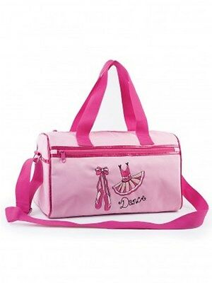 Girls Medium Dance Holdall Bag Ballet Shoes And Tutu Design Glittery Trim Pink • 19.99£