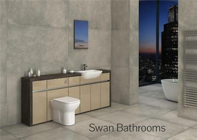 £1035 • Buy Mali Wenge / Cappuccino Gloss Bathroom Fitted Furniture 2100mm