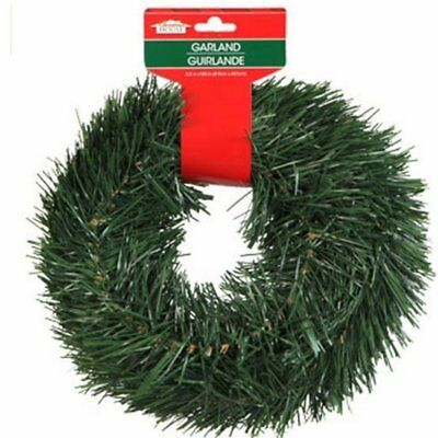 Christmas House 15 FT Wired Holiday Green Pine Garland Decor Indoor/Outdoor  • 5.99$