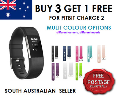 AU4.99 • Buy Replacement Silicone Gel Band Bracelet Strap For FITBIT CHARGE 2 SA & AU SELLER