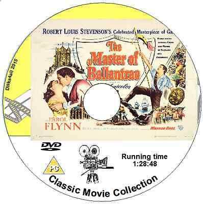 The Master Of Ballantrae -  Errol Flynn And Roger Livesey  1953 DVD  • 1.29£