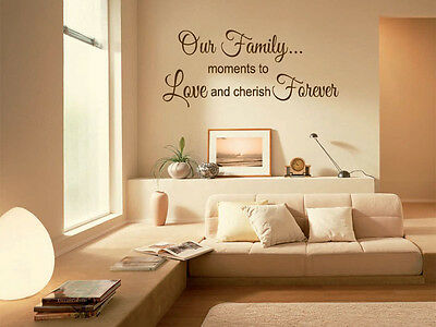 £16.95 • Buy Family Wall Quote  Our Family  Wall Art Sticker, Modern Transfer.