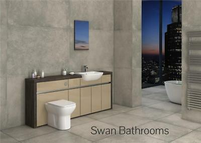 £995 • Buy Mali Wenge / Cappuccino Gloss Bathroom Fitted Furniture 2000mm