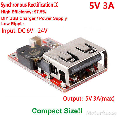 AU3.78 • Buy DC-DC Buck Module 6V-24V 12V To 5V 3A Converter USB Charger Power Supply Car DIY