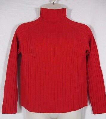 £21.47 • Buy Chadwicks Lambs Wool Red Mock Pullover Sweater Cable Sz XL