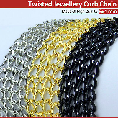 £1.99 • Buy Twisted Jewellery Craft Making Curb Chain High Quality Colours Price Per Metre