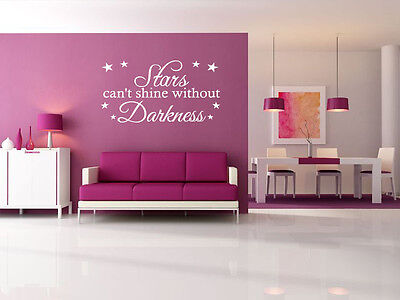 £14.95 • Buy Inspirational Wall Quote -  Stars Can't Exist..  Wall Art Sticker, Modern Decal,