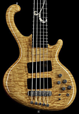 $ CDN13591 • Buy Ritter Roya 5-String Bass - Quilted Maple Top - Wynn Inlay (Solid Silver)