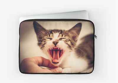 £30.52 • Buy Laptop Macbook Sleeve Case Bag Cover With Crazy Cat Photo Print- 12,13 & 15 Inch