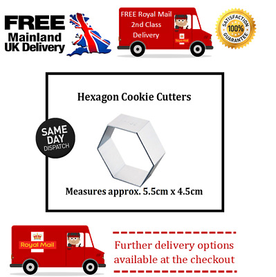 Small Hexagon  Cookie Cutter Ideal For Fondant Icing Decorating • 1.99£