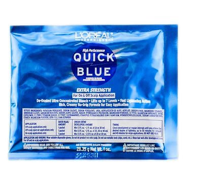 $3.89 • Buy L'OREAL QUICK BLUE Powder Bleach Extra Strength For On & Off Scalp Application