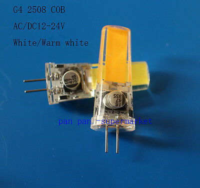 AU1.82 • Buy G4 5W COB 2508 AC/DC 12-24V Led Dimmable Bulb White/Warm Silicone Light Lamp