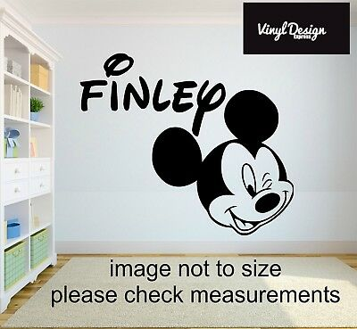 Mickey Mouse Personalised Wall Art Sticker / Vinyl For Childrens Bedroom Wall • 13.50£