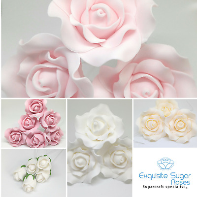 £3.75 • Buy Sugar Rose Wedding  Birthday Cake Topper Flower Decoration  *multi Buy Pay 1 P&p