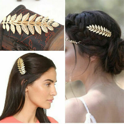 $ CDN4.41 • Buy Fashion Simple Gold Leaf Hair Clips Hairpin Barrette Hair Accessories Wedding