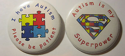 AUTISM BADGES Great Awareness Badges For Your Child 50mm Pin Badge • 2.10£