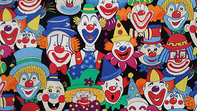 £10.75 • Buy Clown Face Fabric - By The Yard