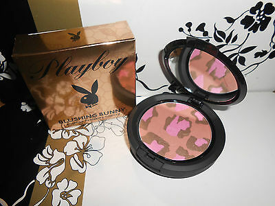 New Playboy Blushing Bunny Shimmering Bronzing Powder Mirrored Compact 10g • 7.99£