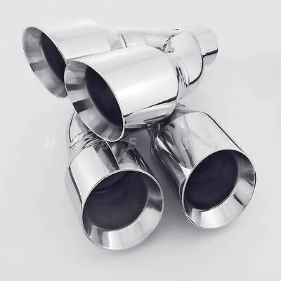 $ CDN245.56 • Buy 1 Pair QUAD 4  Outlets Stainless Steel Exhaust Tips 2.5  ID For AUDI S3 S4 S5 S6