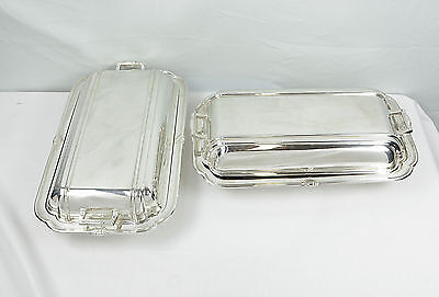 Pair Of Silver Plated Entree Dishes • 250.93£