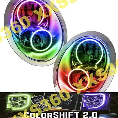 AU1260.83 • Buy ORACLE Halo HEADLIGHTS For Mini Cooper/S 05-08 COLORSHIFT LED 2.0 W/ Remote