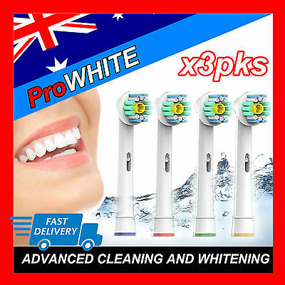 AU16.87 • Buy Pro White Oral B Compatible Electric Toothbrush Replacement Brush Heads X12pcs