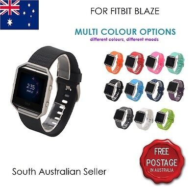 AU7.95 • Buy Replacement Silicone Gel Band Bracelet Strap For FITBIT BLAZE SA & AU SELLER