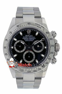 $ CDN28467 • Buy Rolex Daytona 116520 40mm Black Dial With Stainless Bezel Oyster Band Watch