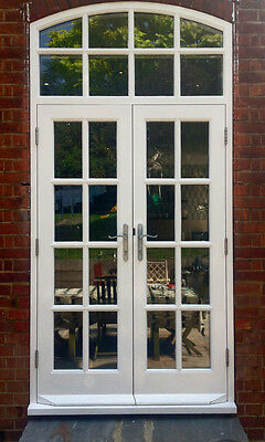 £2550 • Buy Hardwood Georgian French Doors With Arched Top Light! Glazed! Made To Measure!