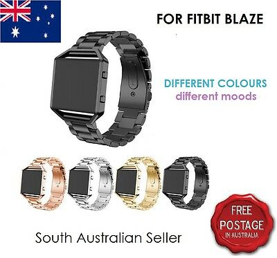 AU6.50 • Buy For FITBIT BLAZE Stainless Steel Wrist Strap Band & Frame FITBIT BLAZE SA SELLER