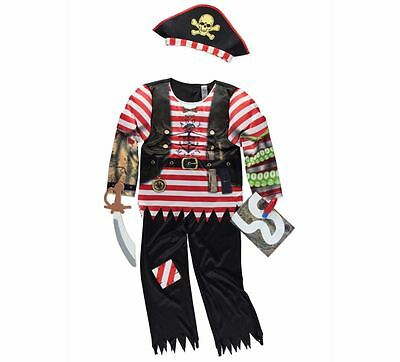 George Childrens Boys Pirate Fancy Dress Outfit Book Day Costume Book Day • 18.05£