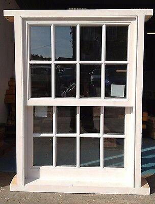 Traditional Timber Wooden Georgian Sliding Sash Window! Double Glazed! Bespoke! • 1,348£