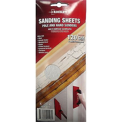 £20.67 • Buy Rocket NON-CLOG SANDING SHEETS For Pole & Hand Sanders 5Pc, 80 120 Or 240 Grit