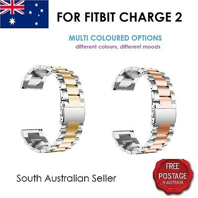 AU15 • Buy Replacement Metal Stainless Steel Strap Band Clasp For FITBIT CHARGE 2 SA SELLER