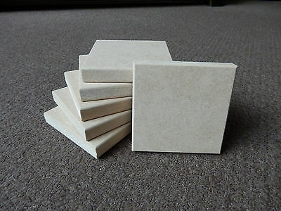 6 X Freestanding 4  X 4  X 18mm Thick  MDF Wooden Square Blocks Quality Made • 8.49£